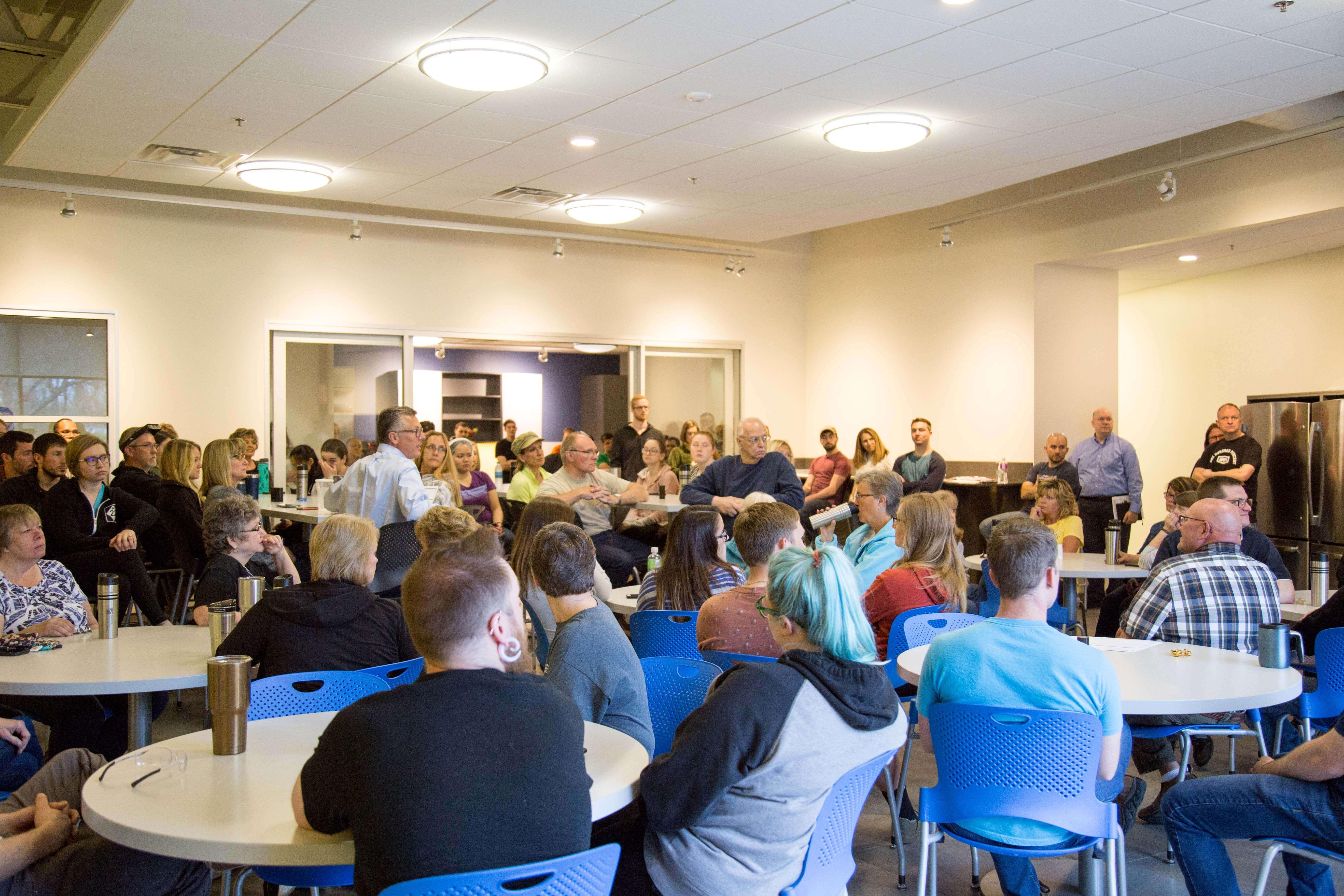 Motion Dynamics company meeting, Fruitport, Michigan
