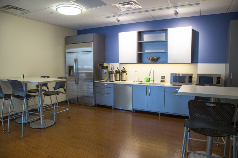 Motion Dynamics office kitchen, Fruitport, Michigan