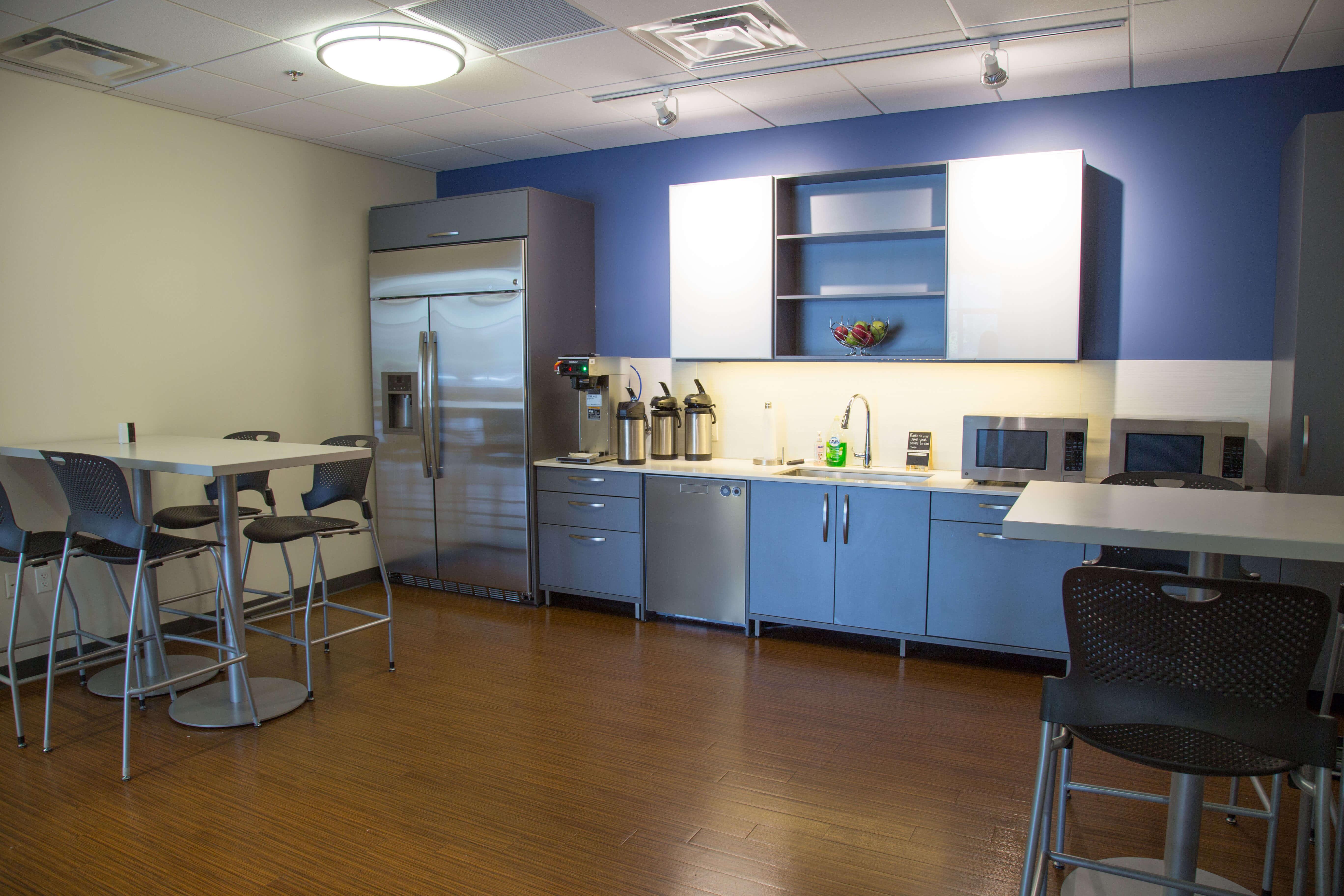 Motion Dynamics office kitchen, Fruitport, Michigan