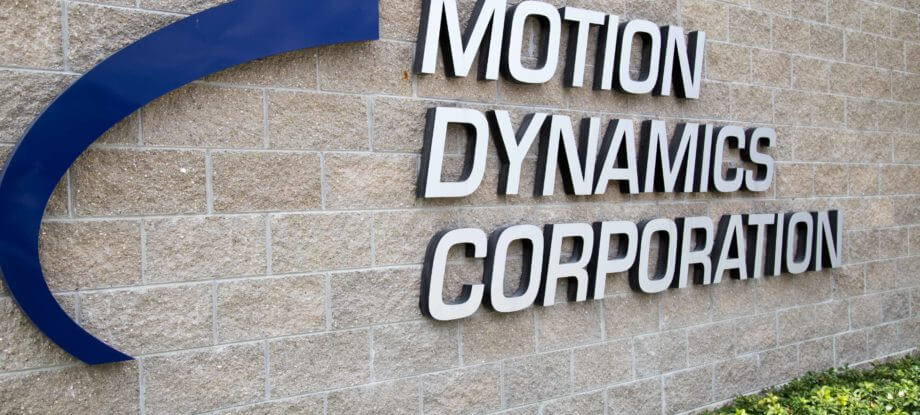 Motion Dynamics exterior entrance sign