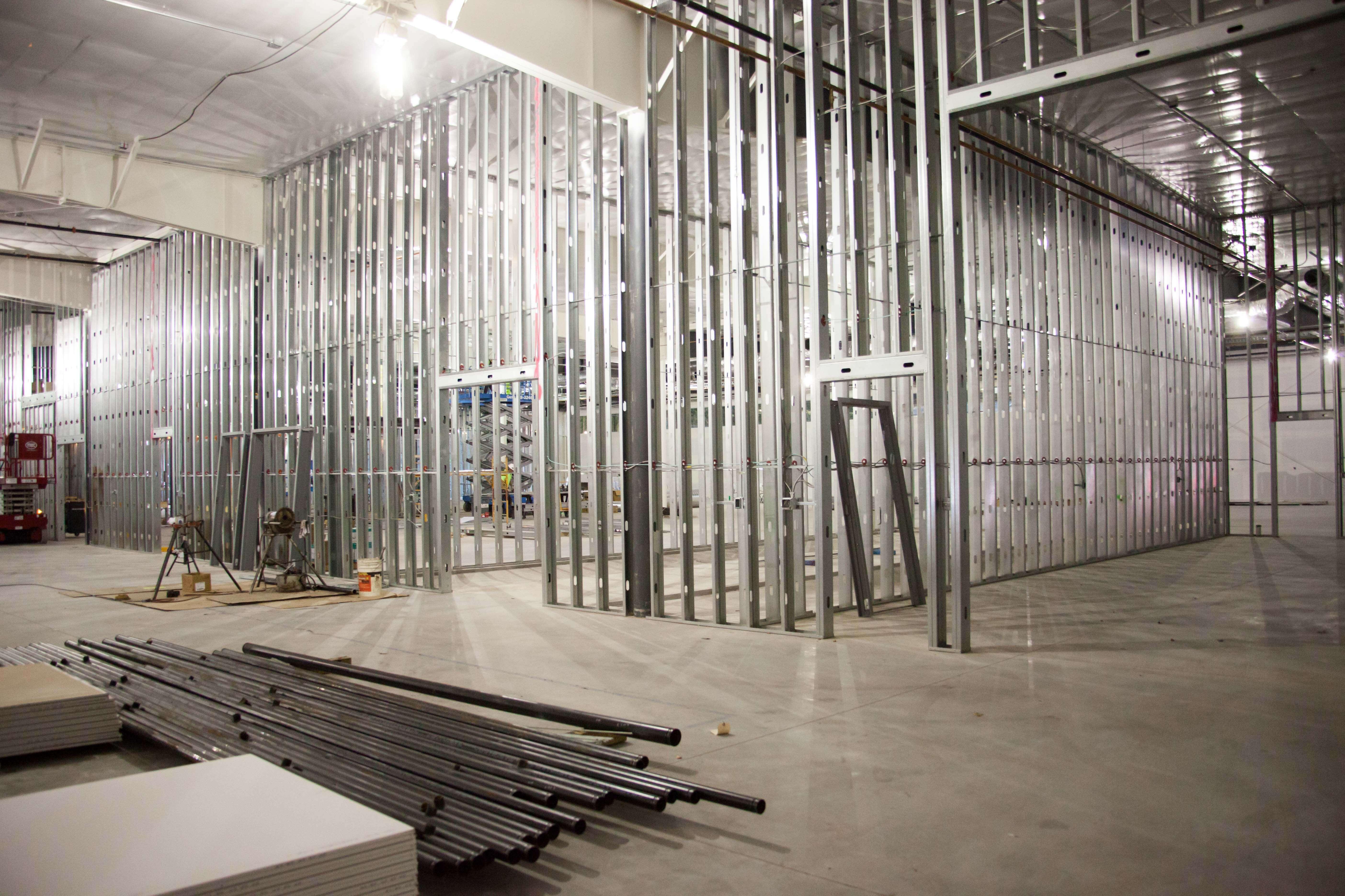 Motion Dynamics building construction, Fruitport, Michigan